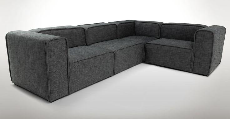 Quadra Carbon Gray Corner Sectional