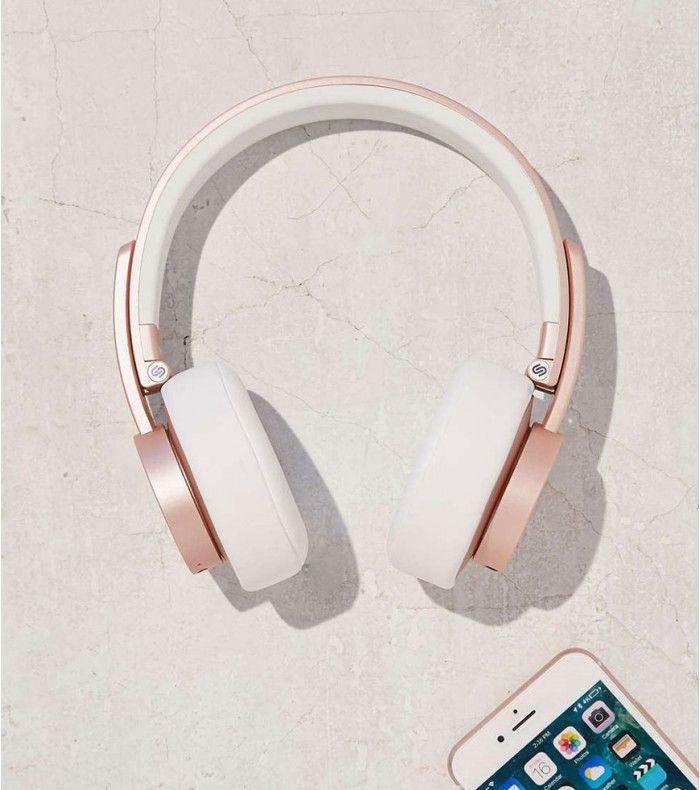 Ecoutez votre musique préférée avec style sans vous prendre la tête avec les fils. Le casque audio Urbanista en gold pink va faire fondre les plus fashionistas d'entre vous !