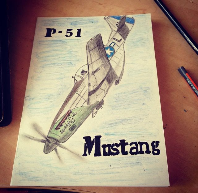 Birthday card P-51 Mustang