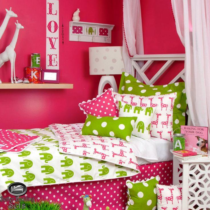 Cute Pink teen bedding