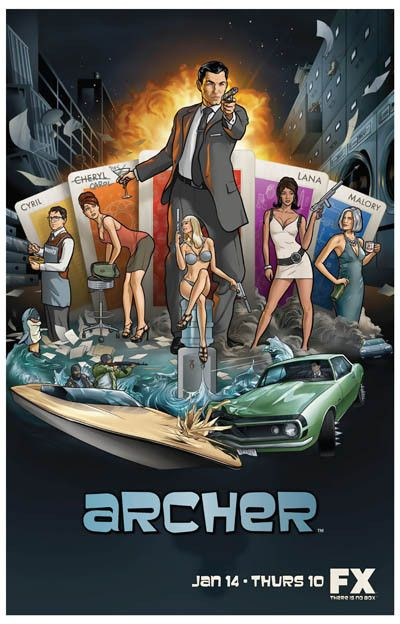 Sterling Archer is the most hilarious spy in the history of TV! A great cartoon cast poster from Archer Season 1. Ships fast. 11x17 inches. Check out the rest of our fun selection of Archer posters! N