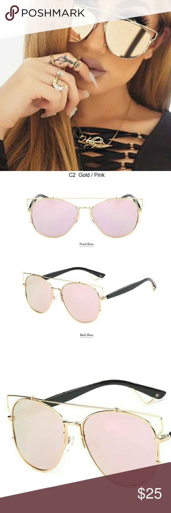Gold, Pink Sunglasses New Polarized Sunglasses  Mirrored  Pink, Gold  Please be considerate when making an offer.   For all sales under $15, Poshmark takes a flat commission of $2.95. You keep the rest. For sales of $15 or more, you keep 80% of your sale and Poshmark's commission is 20%. Once your sale has been delivered and received by your buyer, the earnings from your sale are yours. Accessories Sunglasses