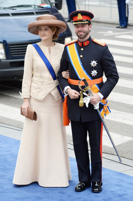 Dutch Enthronement 2013...Royal Guests..Hereditary Grand Duchess Stephanie of Luxembourg  | The Royal Hats Blog