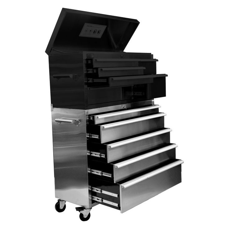 Trinity 45 in. Stainless Steel Roller Tool Chest - THL-RT24411B, Durable
