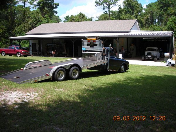 One of a Kind Lowrider Car Hauler - GMC Cab Concoction