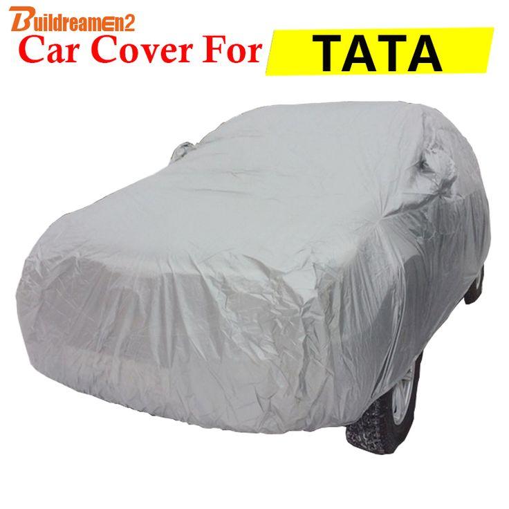 Buildreamen2 Car Cover Auto Sun Shade Outdoor Anti-UV Sun Rain Snow Scratch Resistant Cover For TATA Indica Indigo Safari Sumo