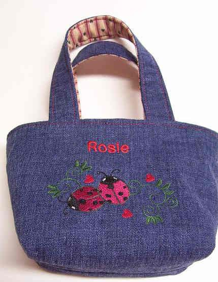 Little Girls First Purse Tote With Name  And by Stitchinthread