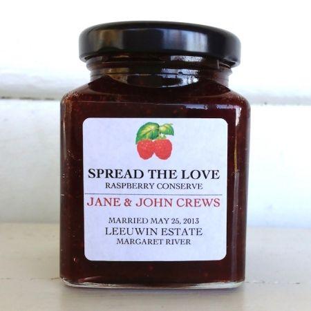 Spread the Love Jam - Custom Labelled Wedding / Anniversary Bonbonniere / Favor - hardtofind.