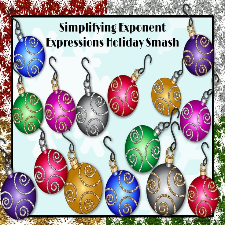 Simplifying Exponent Expressions: Holiday Smash PowerPoint Game!