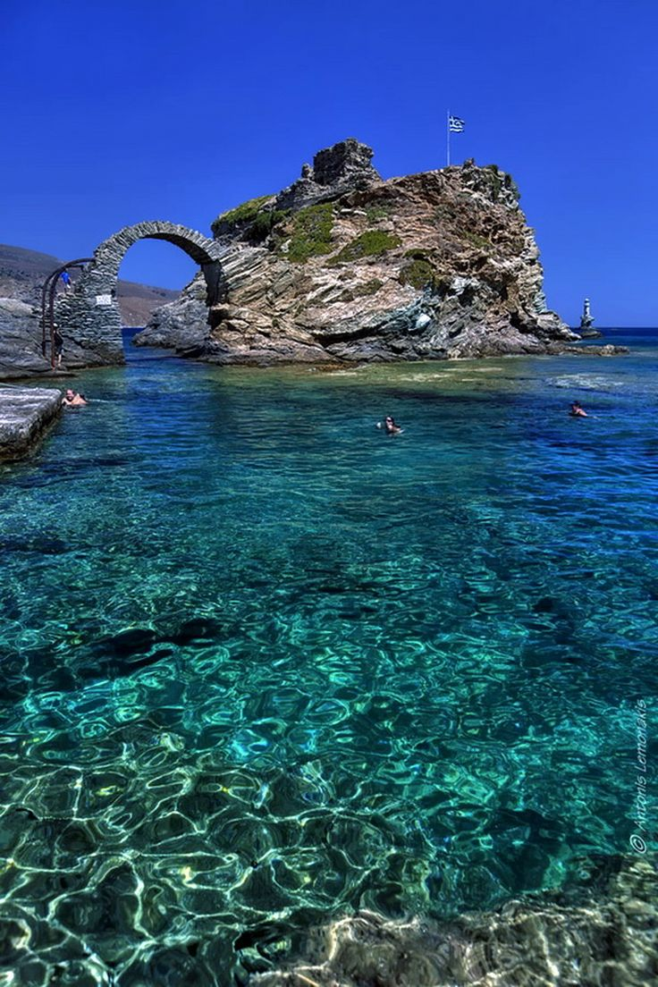Andros. Cyclades group Greece.  It is the northernmost island of the group with a great naval tradition and no landscape like the postcards ...