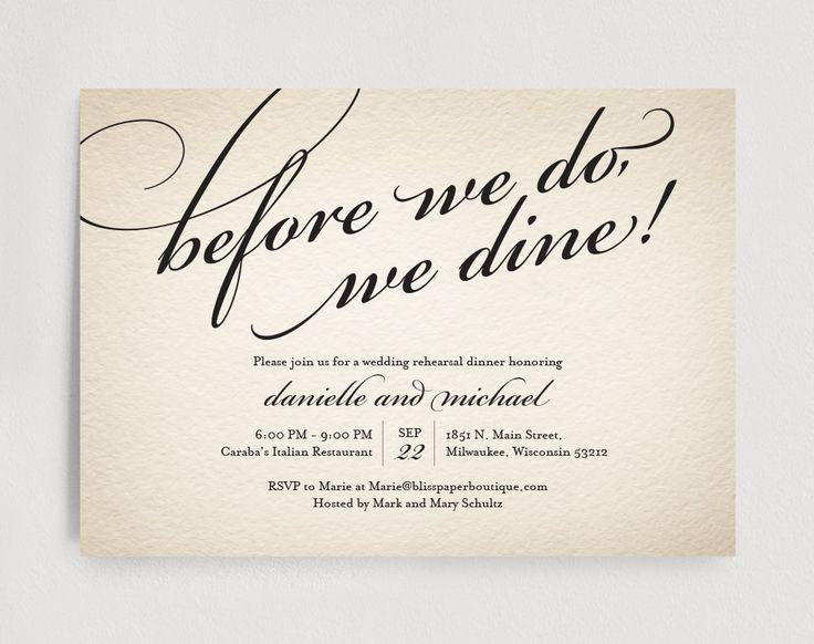 59 best Rehearsal dinner images on Pinterest Rehearsal dinner - free dinner invitations