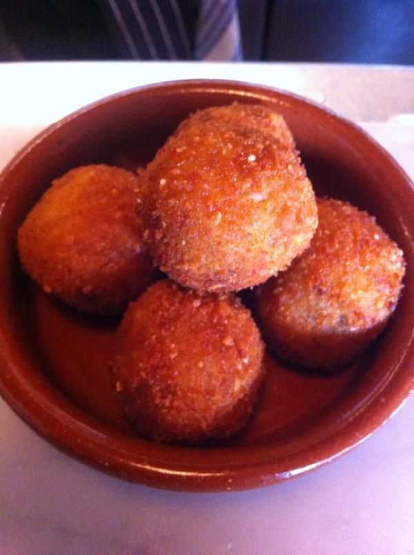 Pizarro   Bermondsey   Varying styles of croquetas are a highlight of the tiny, ever-changing menu at this popular Bermondsey Street restaurant from well-loved Spanish chef José Pizarro. Depending on the day you can have salt cod, ham, blue cheese or creamy Torta del Casar and honey. All of them are delicious, and all worth a second order.
