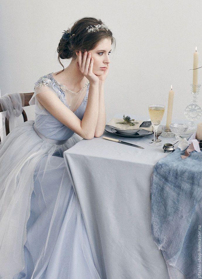 Schöne A-Line Prom Dresses V-Ausschnitt Tüll Abendkleid Perlen formale Kleider billig   – daman