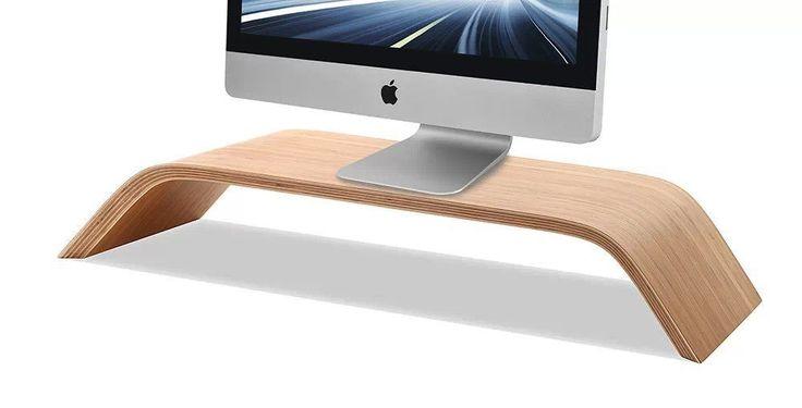 Aliexpress.com: Comprar Original samdi bambú real pc de escritorio soporte de exhibición pantalla del monitor plataforma plataforma vertical titular para apple imac macbook de shelf riser fiable proveedores en GOOYIYO Store