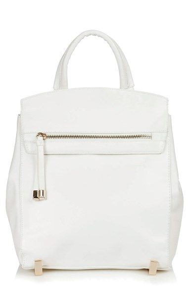 NORDSTROM #currentlyobsessed white leather backpack