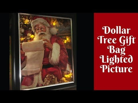 8628a203de8 Christmas Crafts  Dollar Tree Lighted Gift Bag Pictures - YouTube ...