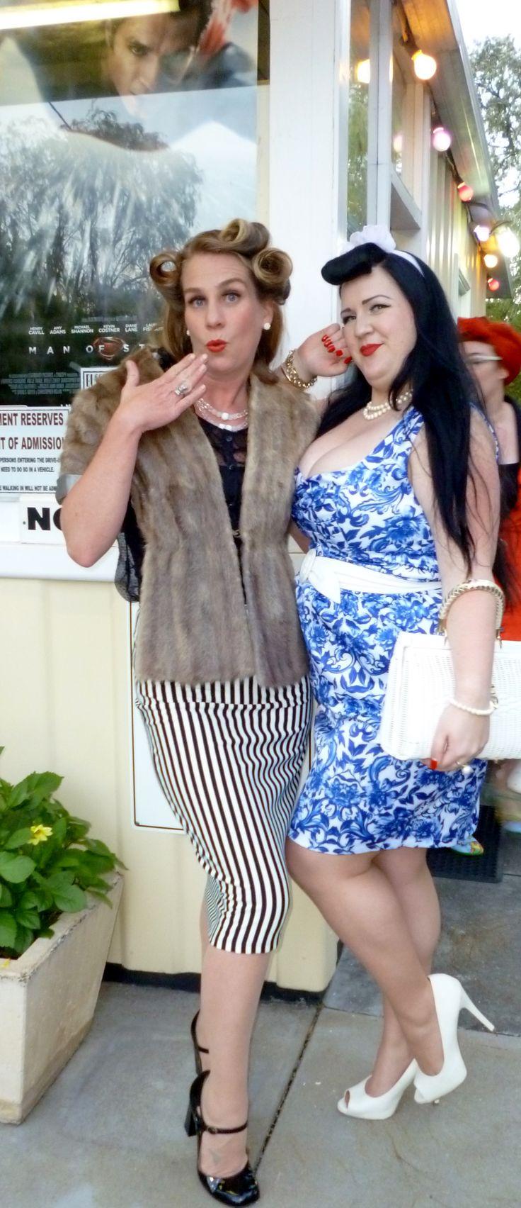 Miss Belle Lamarr & Miss Sapphire Sparkles. Busselton Drive In,WA.