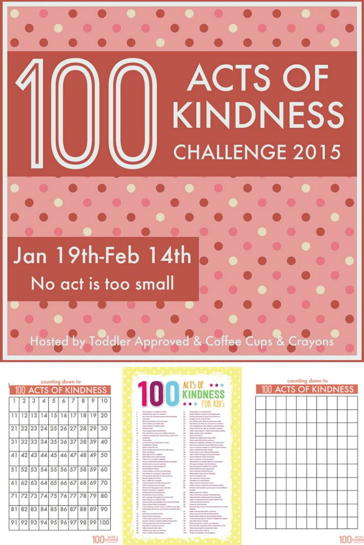 100 Acts of Kindness Challenge - from Martin Luther King Jr Day to Valentine's Day, commit to spreading kindness and happiness with your kids. Includes free printables to track your acts of kindness and ideas for fun things to do as a family!