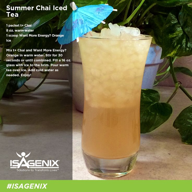 Summer Chai Iced Tea recipe Yum, I want this now! ! Get your isagenix products here -----》Nutritionmatters.isagenix.com