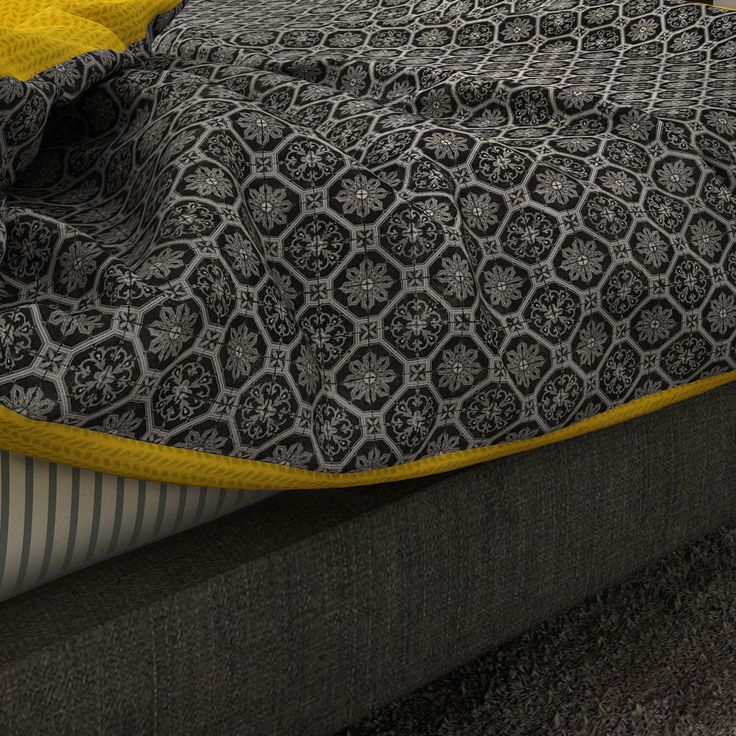 Duvet with moroccan pattern. Private project in Hamburg, Germany by Linee Studio.