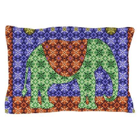 Colorful Elephant Pillow Case