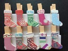 120 unids diseño media de la navidad artesanía de madera clips diy ropa de madera clavijas papel fotográfico para favores de la fiesta de navidad de regalo de los niños(China (Mainland))
