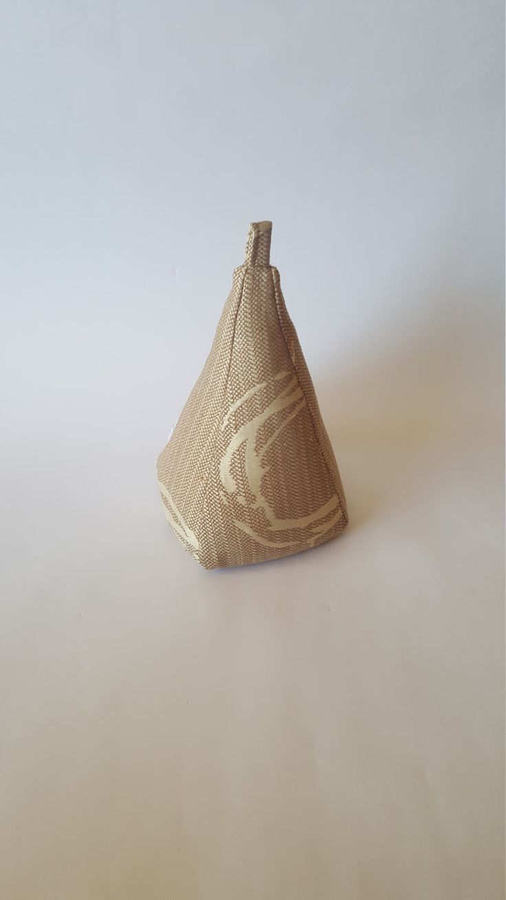 Excited to share the latest addition to my #etsy shop: Fabric Doorstop, Pyramid Shaped, Tan Tweed, Fabric Doorstopper http://etsy.me/2D61bKG #housewares #homedecor #brown #beige #entryway #tan #cream #decorative #doorstopper