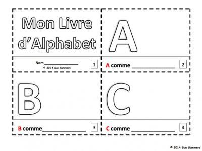 $ French Alphabet Sketch and Colour Booklet - Mon Livre dAlphabet from Sue Summers on TeachersNotebook.com -  (3 pages)  - 1 with text and images, 1 with text only so students can sketch and create their own versions of the booklets.
