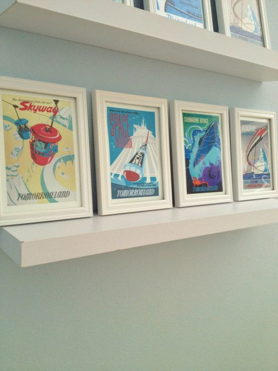 wall of mini attractions posters framed.............well I could have just done this