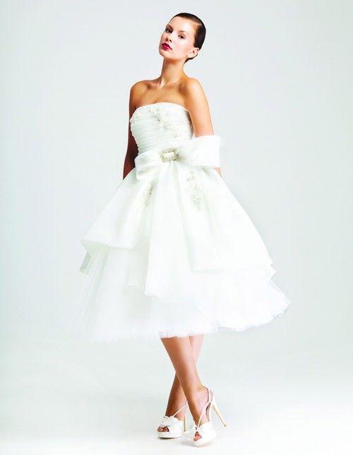 короткое свадебное платье: коллекция 2017 фото 16