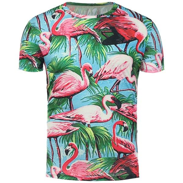3D Flamingo Floral Print Hawaiian T Shirt ($15) ❤ liked on Polyvore featuring men's fashion, men's clothing, men's shirts, men's t-shirts, men's flower print shirt, men's hawaiian print shirts, mens floral shirts, mens floral print shirts and mens floral t shirts