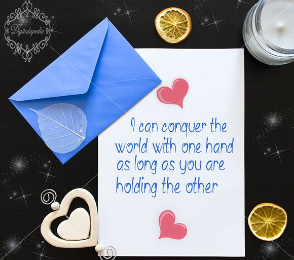 Lovely card mock up  by digitalopedia on Creative Market
