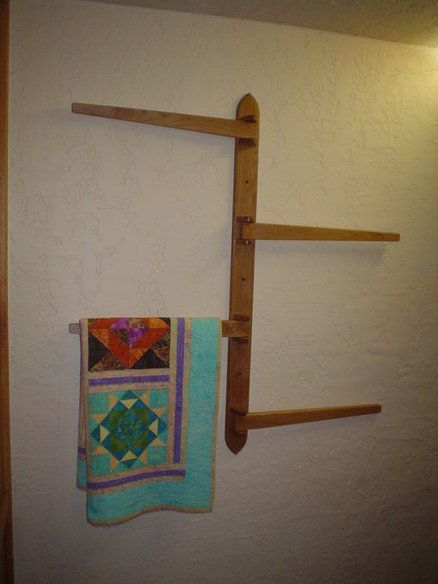 117 Best Images About Quilt Racks On Pinterest Solid Oak