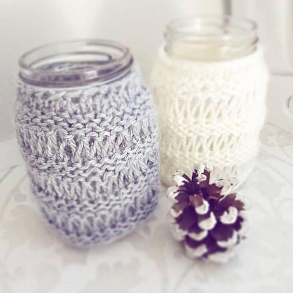 how to put lace on mason jars