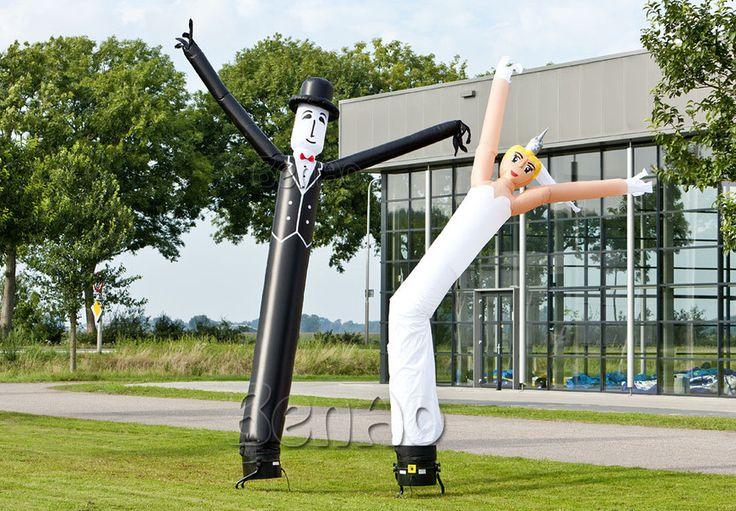 inflatable bride groom air dancer,air dancer for wedding