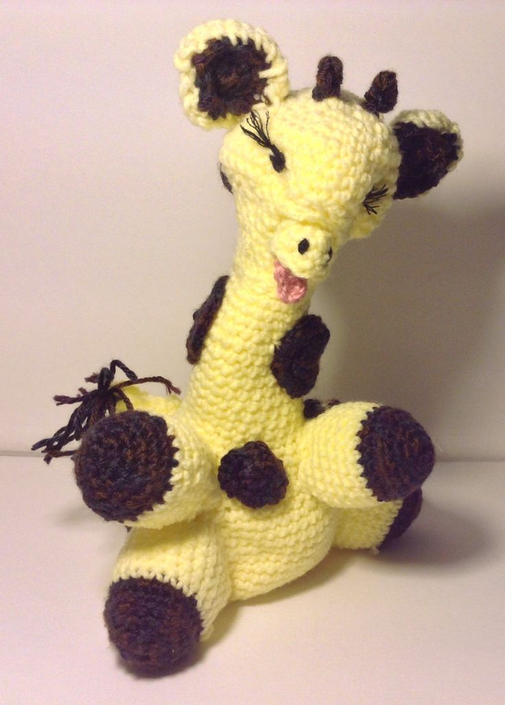 A personal favorite from my Etsy shop https://www.etsy.com/listing/489733969/crochet-baby-giraffe-no-removable