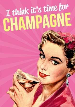 55+ new ideas birthday vrouw champagne happy
