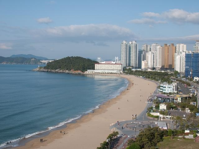 Haeundae is the most popular beach in Busan, South Korea!