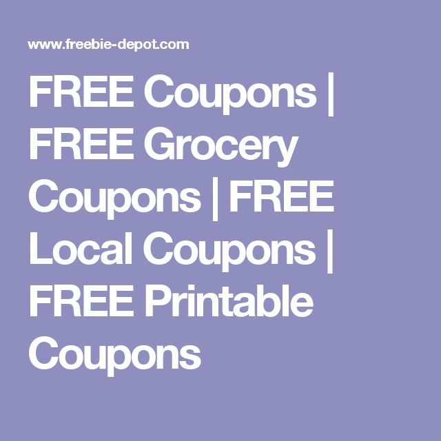 FREE Coupons | FREE Grocery Coupons | FREE Local Coupons | FREE Printable Coupons