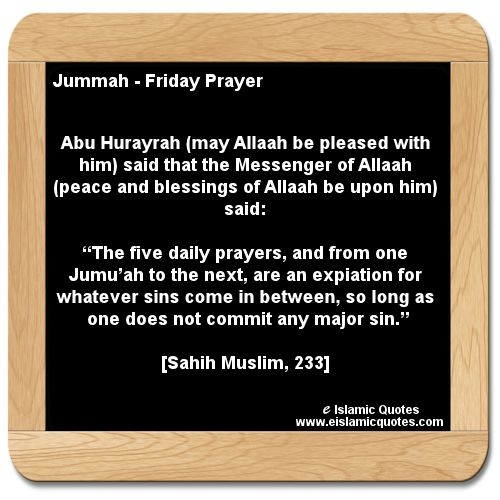 hadith on jummah, Islamic quotes http://www.eislamicquotes ...