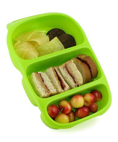 Perfect for school lunches! Loving this Green Bynto Tray on #zulily! #zulilyfinds
