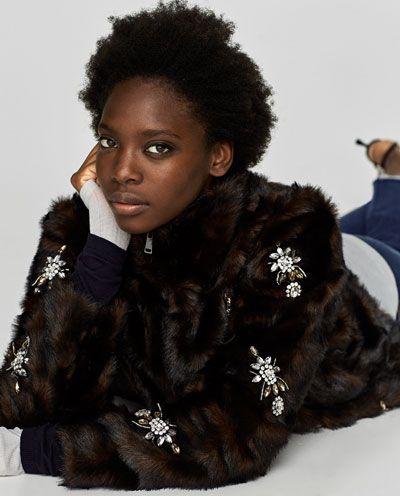 OMG. This look! So opulent and indulgent ... LOVE! https://www.zara.com/ca/en/woman/jackets/bejewelled-jacket-c269184p4791043.html