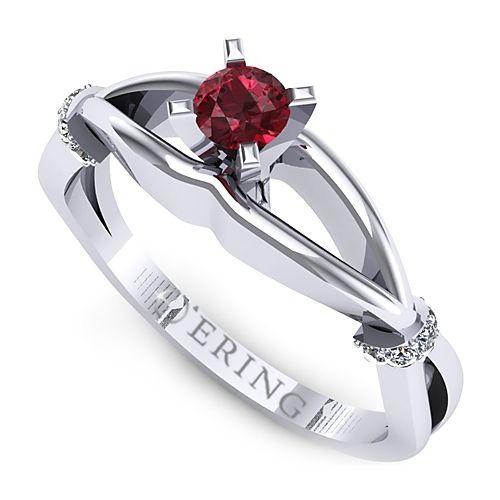 Inel logodna L48ARB inel cu diamant si rubin