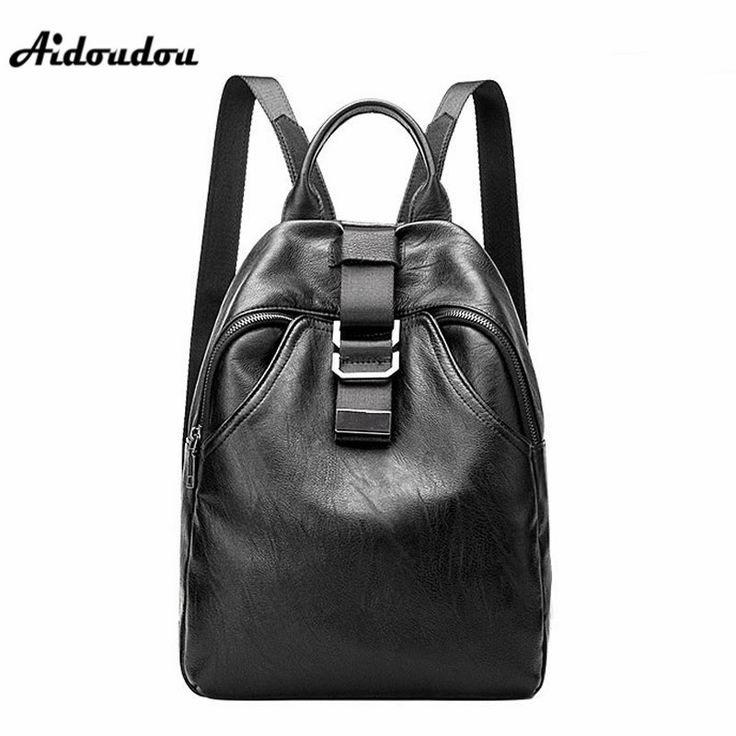 AIDOUDOU New Trendy Genuine Leather Backpacks Women Casual Shoulder Bags Lady Travel Backpacks School Bags For College #Affiliate