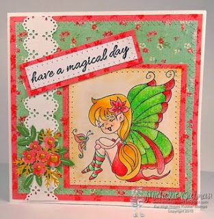 High Hopes Stamps: Have a Magical Day by Michelle using Julie's Smile (S522) & Sentiment Set #2 (U501)
