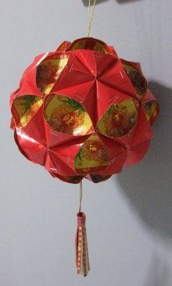 Cny red enevelope ball lantern tutorial cny crafts for Ang pao fish tutorial