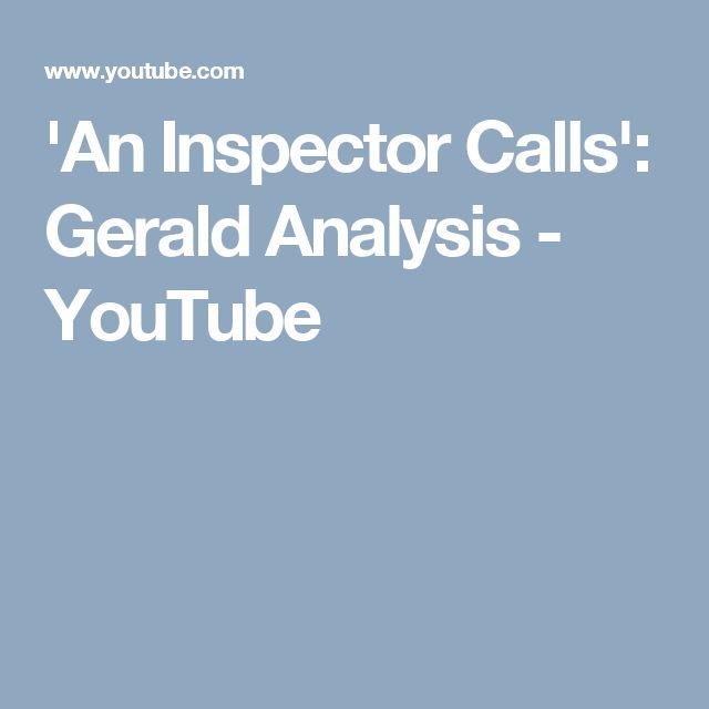 'An Inspector Calls': Gerald Analysis - YouTube