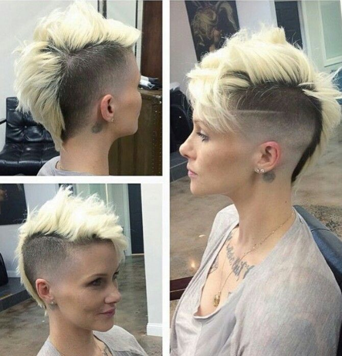 Mohawk with awesome fade