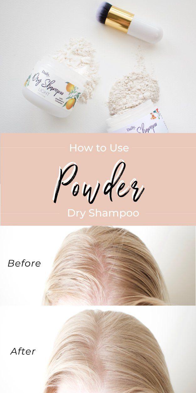 How To Use Powder Dry Shampoo Using Dry Shampoo Best Dry Shampoo Dry Shampoo
