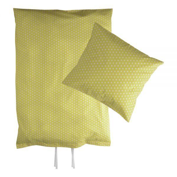 Hollys junior sengetøj - Gul med kløverprint
